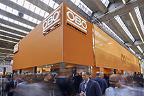 OBO Messestand auf der Light and Building