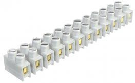 Reihenlüsterklemmen, 4mm², Polyamid  Drahtschutzbügel