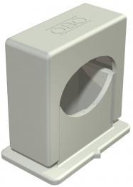 Druck-ISO-Schelle 3052, 1-fach lichtgrau