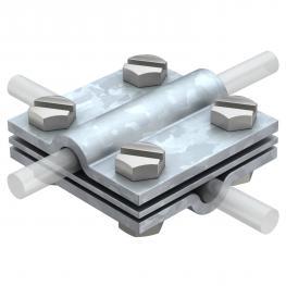 Kreuzverbinder mit Zwischenplatte für Rd 8-10 FT