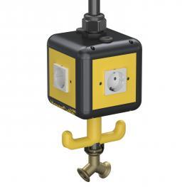 Versorgungseinheit VH-4, 4 x Schutzkontakt-Steckdose, mit Druckluftanschluss
