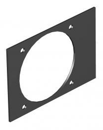 Abdeckplatte Telitank T4B, Einbauöffnung für CEE-Gerät mit 60er Befestigungsspur