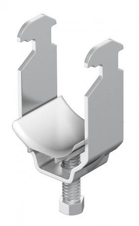 Bügelschelle, 1-fach Kunststoffdruckwanne, ALU