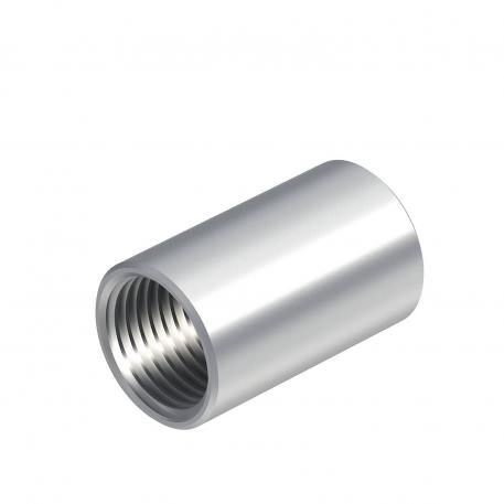 Aluminium-Muffe, mit Gewinde
