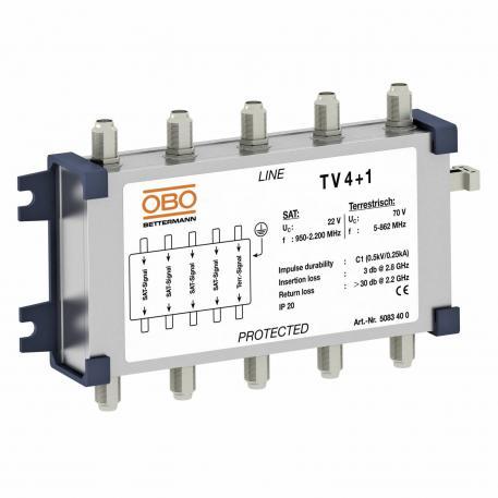 Koaxiales Schutzgerät für SAT- und Kabel-Multiswitch