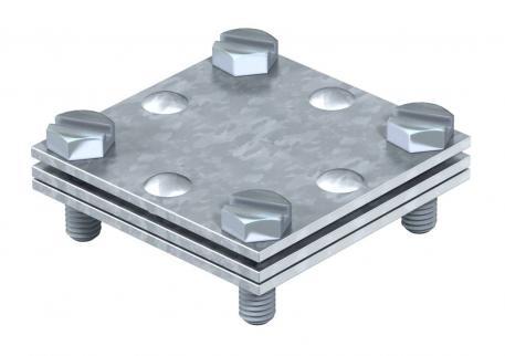 Kreuzverbinder für Flachleiter, mit Zwischenplatte
