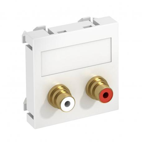 Audio-Cinch Anschluss, 1 Modul, Auslass gerade, als Lötanschluss