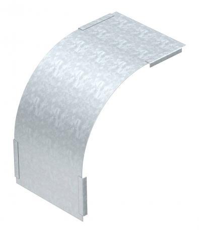 Deckel für 90° Vertikalbogen, fallend, Seitenhöhe 60 FS