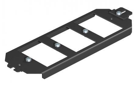 Montageträger für Anschlussbuchsen der Datentechnik, Systemlänge 208 mm
