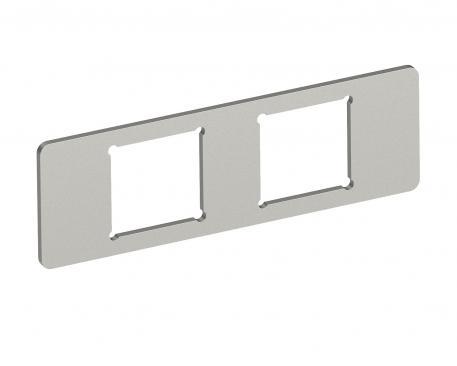 Montageplatte 2 x Datenbuchse Typ F für System 55